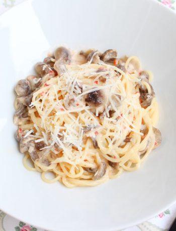 Spaghete_cu_ciuperci_si_smantana