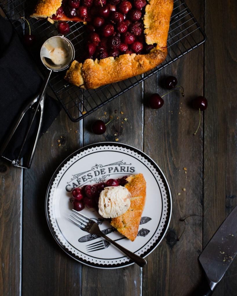 galette tarta cu cirese