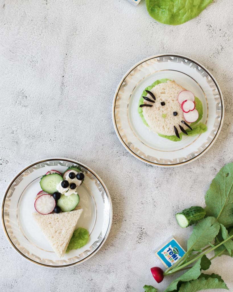 sandvisuri cu legume si crema de branza