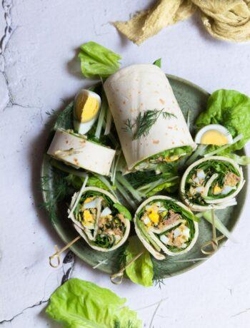 rulouri cu salata verde ton si oua